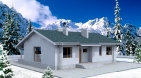 Одноэтажный жилой дом с террасой
